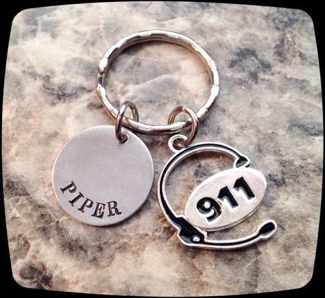 911 Dispatcher Keychain or Necklace Gift, 911 Operator, 911 Professional Jewelry Necklace, officer Key Ring by ThatKindaGirl on Etsy https://www.etsy.com/listing/216453775/911-dispatcher-keychain-or-necklace-gift