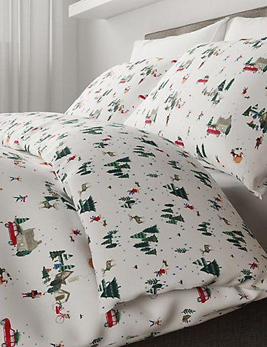 Christmas Eve Bedding Set Patterned Sets Marks And Spencer Nz