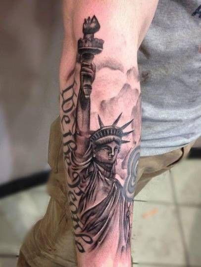 19 Ideas Tattoo Ideas For Guys Top 10 American Flag Tattoos Liberty Tattoo Statue Of Liberty Tattoo
