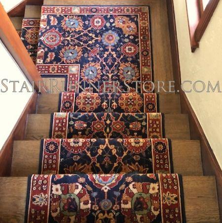 Karastan English Manor Cambridge Blue Stairrunner Discontuinued By Karastan In 2018 The Last Stock Of This Stair Runner Stair Runner Carpet Carpet Stairs