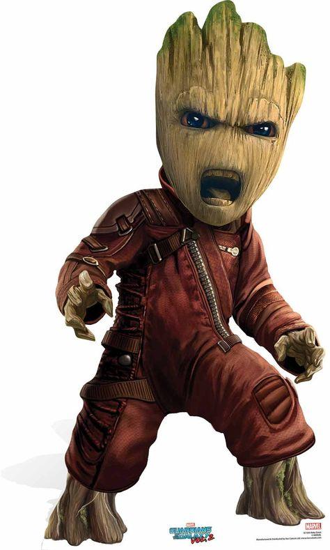 Guardians Of The Galaxy Marvel Decoupe En Carton Bebe Groot Des