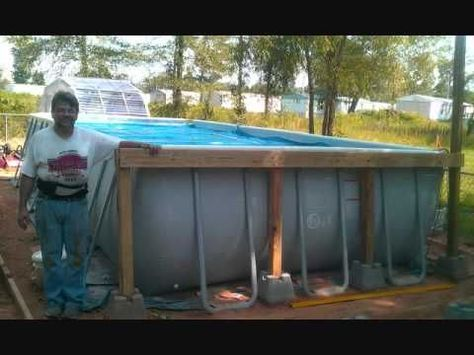 around an intex pool above ground pools trouble free pool my house pinterest free pool ground pools and decking