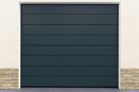 Installation Porte De Garage En Kit Coloris Gris Porte Garage Porte De Garage Sectionnelle Et Garage