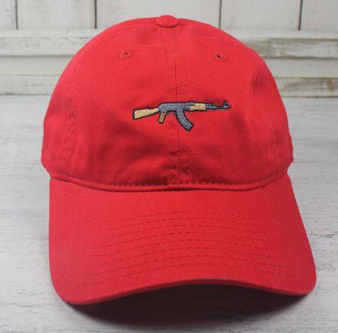 NEW AK-47 Embroidered Baseball Cap Curved Bill Dad Hat 100% Cotton  Kalashnikov Gun Ice Cube 573fd8942b6b