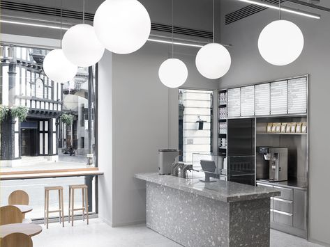 Arket Cafe Is A Minimalist Cafe Located In London United Kingdom Designed By Halleroed The Firs Minimalist Interior Minimalist Home Minimalist Bedroom Small