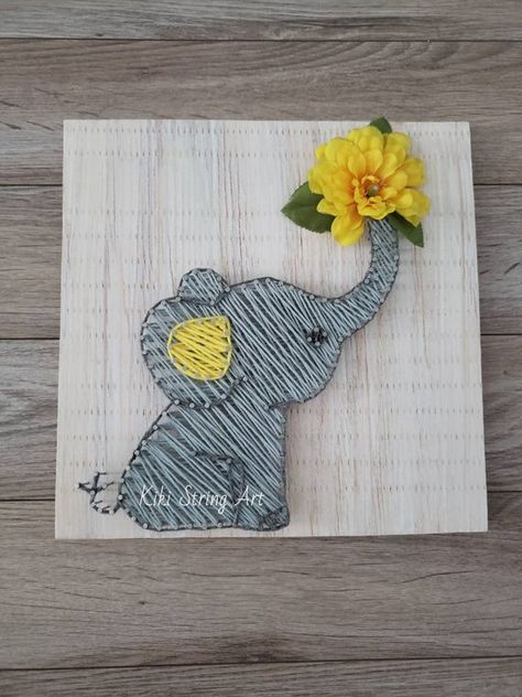 This sign measures approximately 12×12. I can also add your kids name on it at 0 cost :) Isnt that Great? ❤ Board can be stained with dark walnut or antique white or be painted with regular paint (white, black, brown,...) You can also choose the string color. If you have other request
