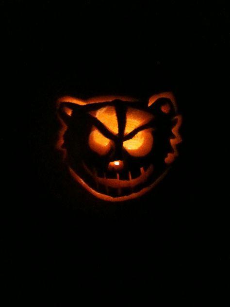 Badger jack-o-lantern