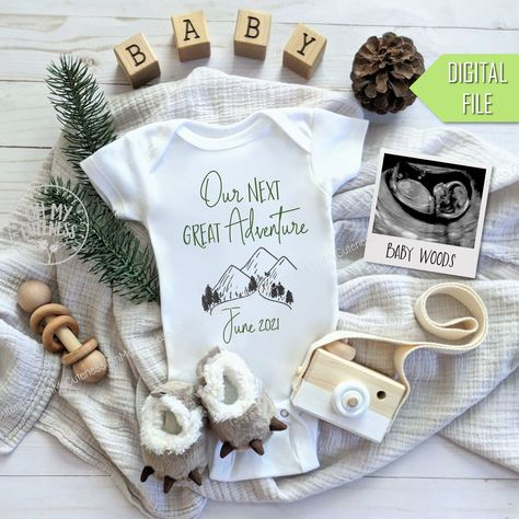 Cute Baby Announcements, Pregnancy Announcement Photos, Birthday Baby Announcement, 2nd Child Announcement, Ultrasound Pictures, Baby Time, Future Baby, Etsy, Greatest Adventure