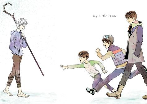 jaime different ages jack Jamie never forgets. He will always believe in the guardians and pass his experience on to his children and teach him the story of his best friend Jack Frost. Dreamworks Movies, Dreamworks Animation, Disney And Dreamworks, Disney Au, Disney Fan Art, Disney Movies, Disney Characters, The Guardian Movie, The Big Four