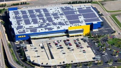 The World S Largest Furniture Retailer Ikea Has Revealed That 70 Of The Materials Used To Make Its Products During Solar Landscaping Company Buy Solar Panels