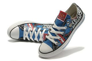 Print The Avengers Captain America Converse Chuck Taylor Low