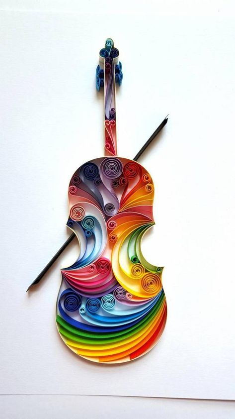 Violin Paper Art Viola Wall Art Violin Home Decor Gift for | Etsy