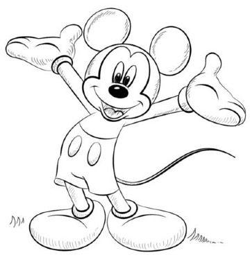 Estos Dibujos De Mickey Mouse A Lapiz Son Geniales Como Practica En Clases De Dibujo Para Peq Mickey Mouse Para Colorear Dibujos De Mickey Mouse Dibujos Mickey