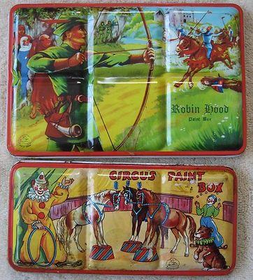 Children S Tin Paint Boxes Painted Boxes Painting Paint Sets