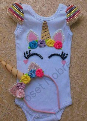 cd6f346fe Resultado de imagem para body personalizado unicornio you tube   vestiditos    Vestido de unicórnio, Roupas de unicórnio, Festa infantil unicórnio