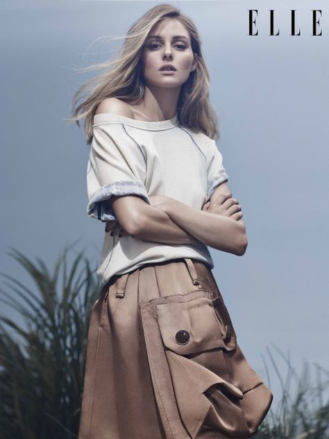 Olivia Palermo in a Marc Jacobs skirt for ELLE Vietnam 4/2015 - Spring Chic