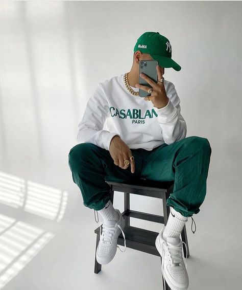 Outfits With Hats, Dope Outfits, Casual Outfits, Urban Outfits, Black Men Street Fashion, Stylish Mens Outfits, Swag Style, Streetwear Fashion, Trill Fashion