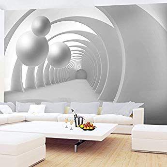 Fototapete 3d Kugel Weiss 352 X 250 Cm Vlies Wand Tapete