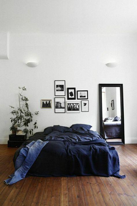 Comment Choisir Son Parquet Pour La Chambre à Coucher Avec Linge De Lit Bleu