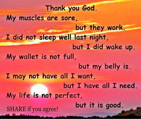 Simple Prayer of Thanks