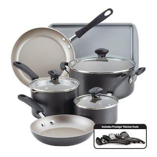 Farberware Cookstart 15 Pc Diamondmax Nonstick Cookware Set Kohls In 2020 Cookware Set Nonstick Cookware Copper Cookware Set