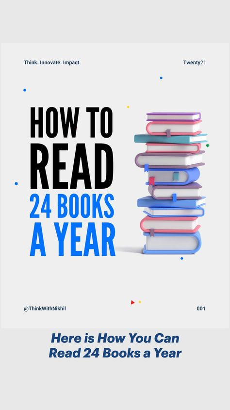 Here is How You Can Read 24 Books a Year