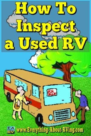 Is an RV Inspection needed before Buying a Used RV? YES