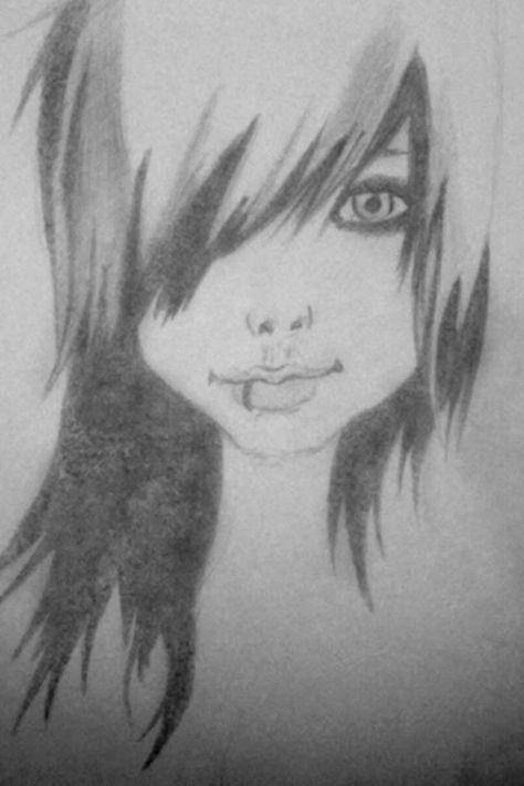 Emo Girl Drawn By Me Art Drawings Emo Art