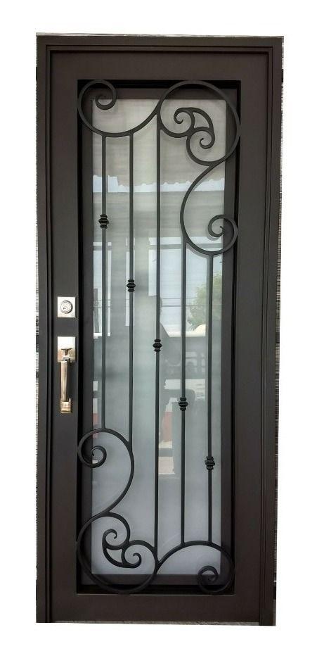 Puerta Principal De Herreria Forja Sencilla 8 900 00 En Mercado Libre Puertas De Entrada De Metal Diseno De Puerta De Hierro Puertas De Entrada Aluminio