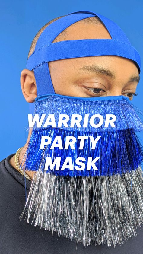 WARRIOR PARTY MASK : A FASHIONABLE & FESTIVE SELF MADE MASK TO STAND OUT AND STAY SAFE.