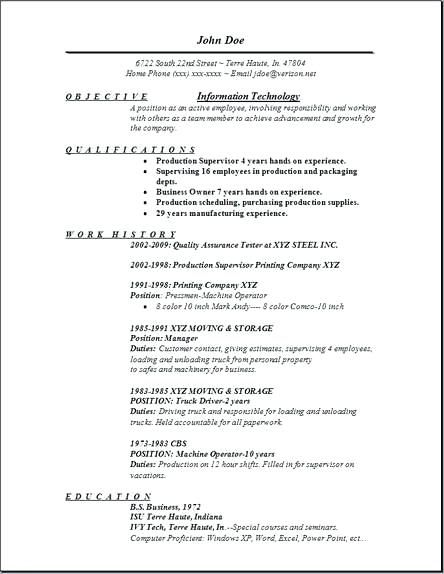 Writing A Resume For An Information Technology Position - IT Resume