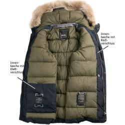 Winter jackets for men - Geox men& quilted jacket, microfiber water-repellent, navy blue GeoxGeox -