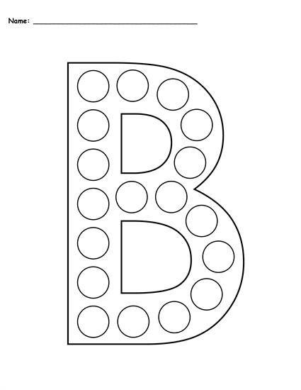Letter B Do-A-Dot Printables - Uppercase & Lowercase! Letter B Worksheets,  Letter A Crafts, Do A Dot