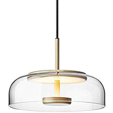 Premium Moderne Led Pendelleuchte Glas Lampenschirm Deckenleuchte Metall Lampenfassung Hangelampe Fur Kuche Schlaf Deckenlampe Holz Hange Lampe Led Beleuchtung