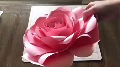 Como Fazer Flor Gigante de Papel passo a passo