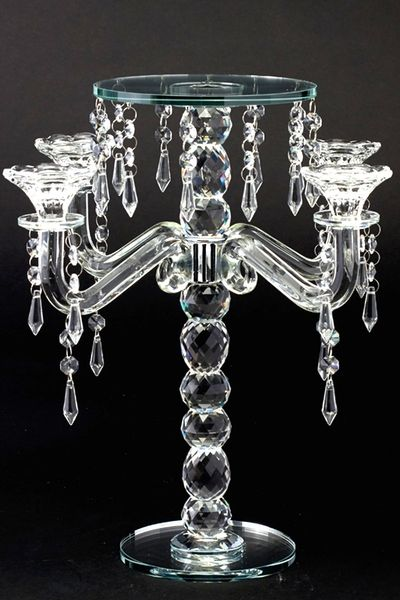 Real Crystal Candelabra And Centerpiece Riser 15 Tall In 2019 Crystal Candelabra Candelabra Candelabra Centerpiece