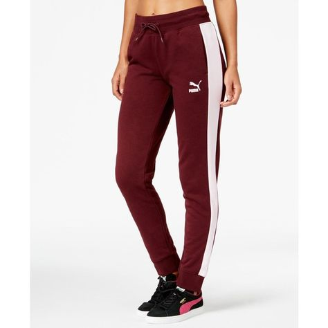 1913447f Puma T7 Track Pants ($50) ❤ liked on Polyvore featuring activewear,  activewear pants