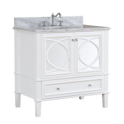 Kbc Olivia 36 Single Bathroom Vanity Set Base Finish White With