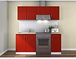 Obi Cuisine Complete 1m80 Rouge Mat Amazon Fr Bricolage Meuble Cuisine Meuble Rangement Cuisine Meuble Haut Cuisine