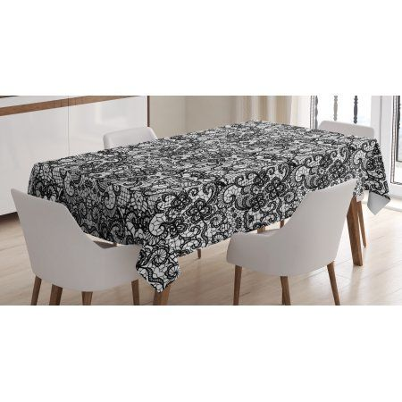 Gothic Tablecloth Classical Bridal Composition Vintage Spring Motifs Victorian Wedding Inspirations Rectangular Table Cover Table Cloth East Urban Home Home