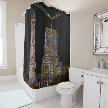 Chicago Water Tower Beautiful Art Vintage Colorful Shower Curtain