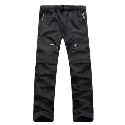 Quick Dry Removable Hiking Pants - Black / XXL / United States