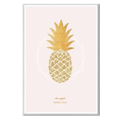 Glitter Gold Pineapple Canvas Posters Pink Princess Glitter Abstract Nordic Wall Art For Girls Room Canvas Poster Wall Art Canvas Prints Fine Art Giclee Prints