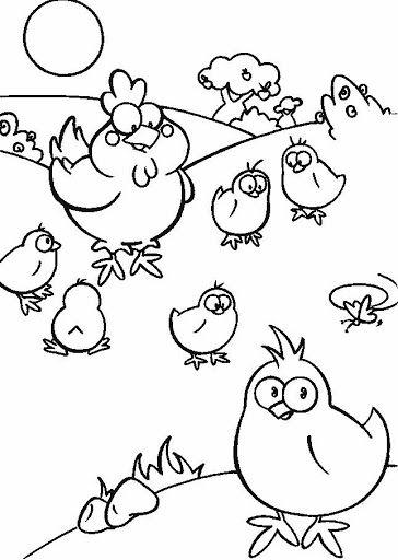 Dibujos De Gallos Y Gallinas Para Colorear Pintura Em Tecido