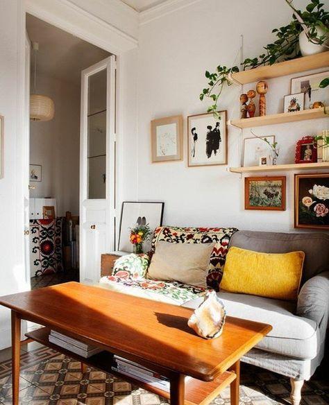 Couleur Peinture Salon Blanc, Multiples Accents Multicolores Qui égayent  Lu0027ambiance.