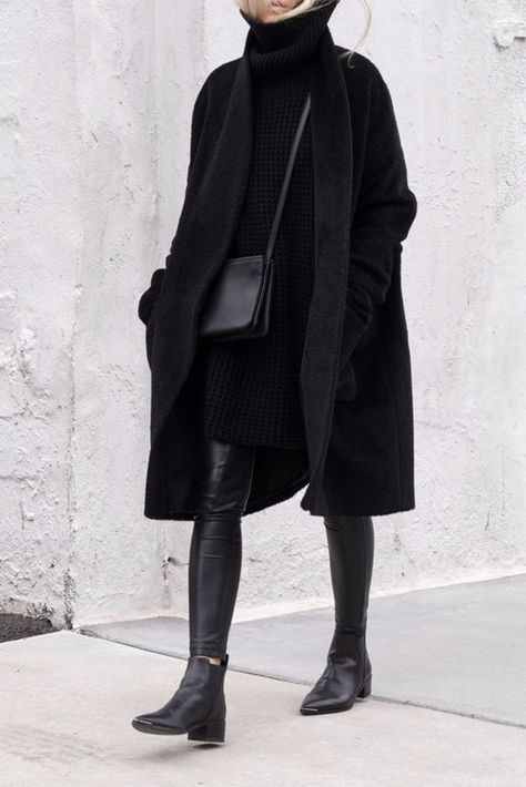 Chic Style - all black outfit; street style