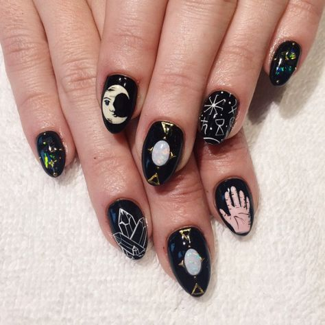 Mystical, occult, witchy (& seriously pretty) nail art
