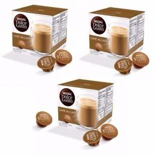 Nescafe Dolce Gusto Au Lait Cafe Com Leite Kit Com 03 Caixas Total