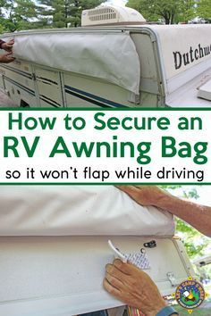 How To Secure An Rv Awning Bag Rv Camper Repair Pop Up Camper