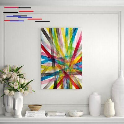 Chelsea Art Studio Vivid Stripe Framed Graphic Art Print Perigold Chelsea Art Studio Vivid Stripe Framed Graphic Art Print Format Image Brush Gel Size